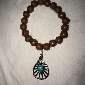 Homemade turquoise bracelet